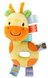 Chrastítko plyšové Taggies, Žirafa 0m+