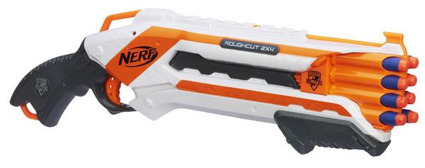 NERF Elite rough cut pistole střílí 2 šipky najednou