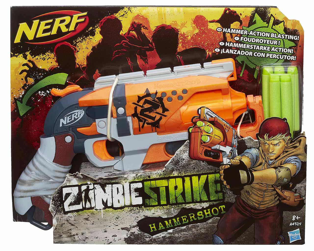 NERF Zombie strike hammershot (Elite)