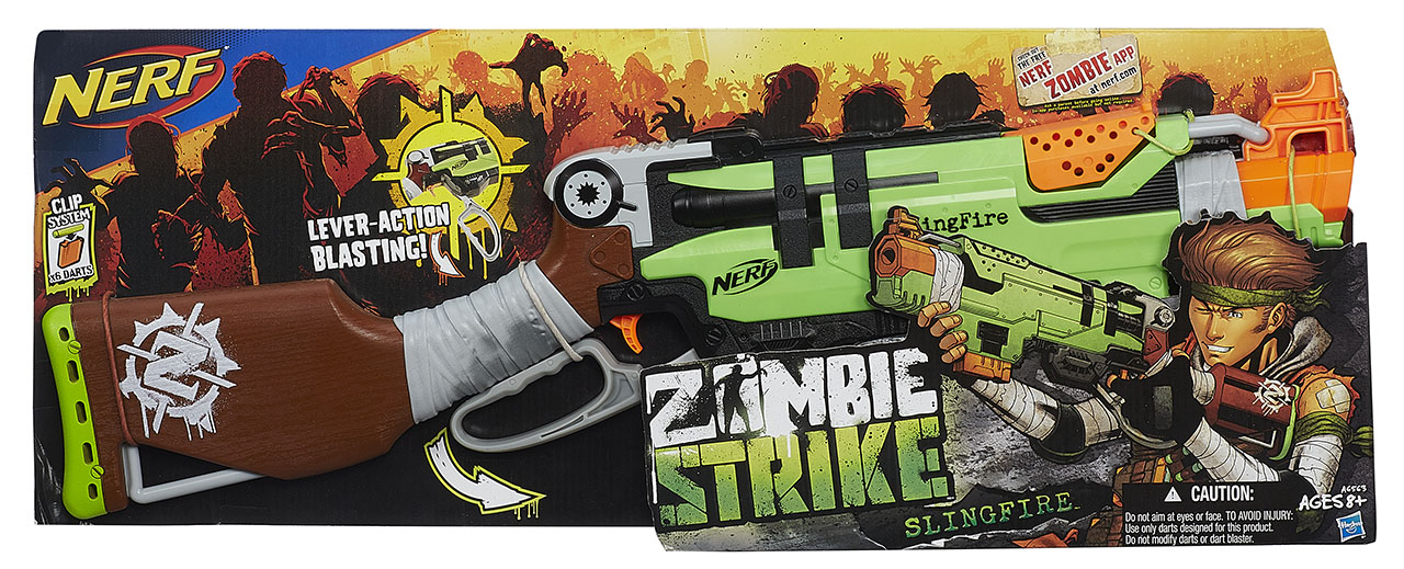 NERF Zombie puška s pákovým nabíjením