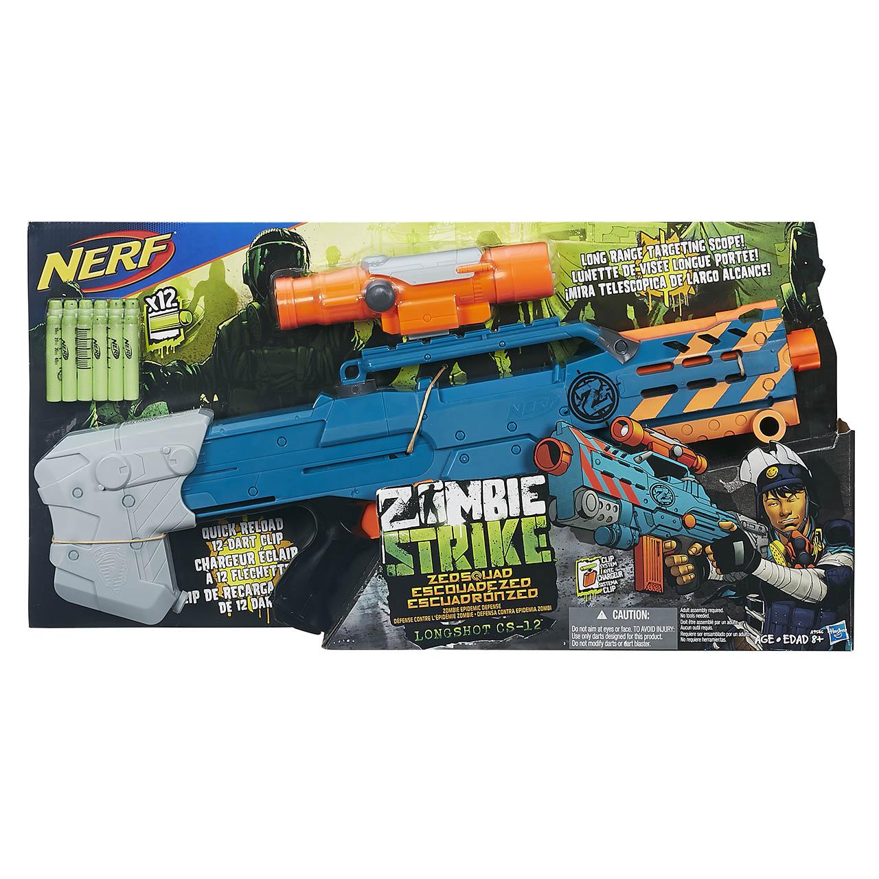 NERF Zombie strike zed squad longshot cs 12 (target)