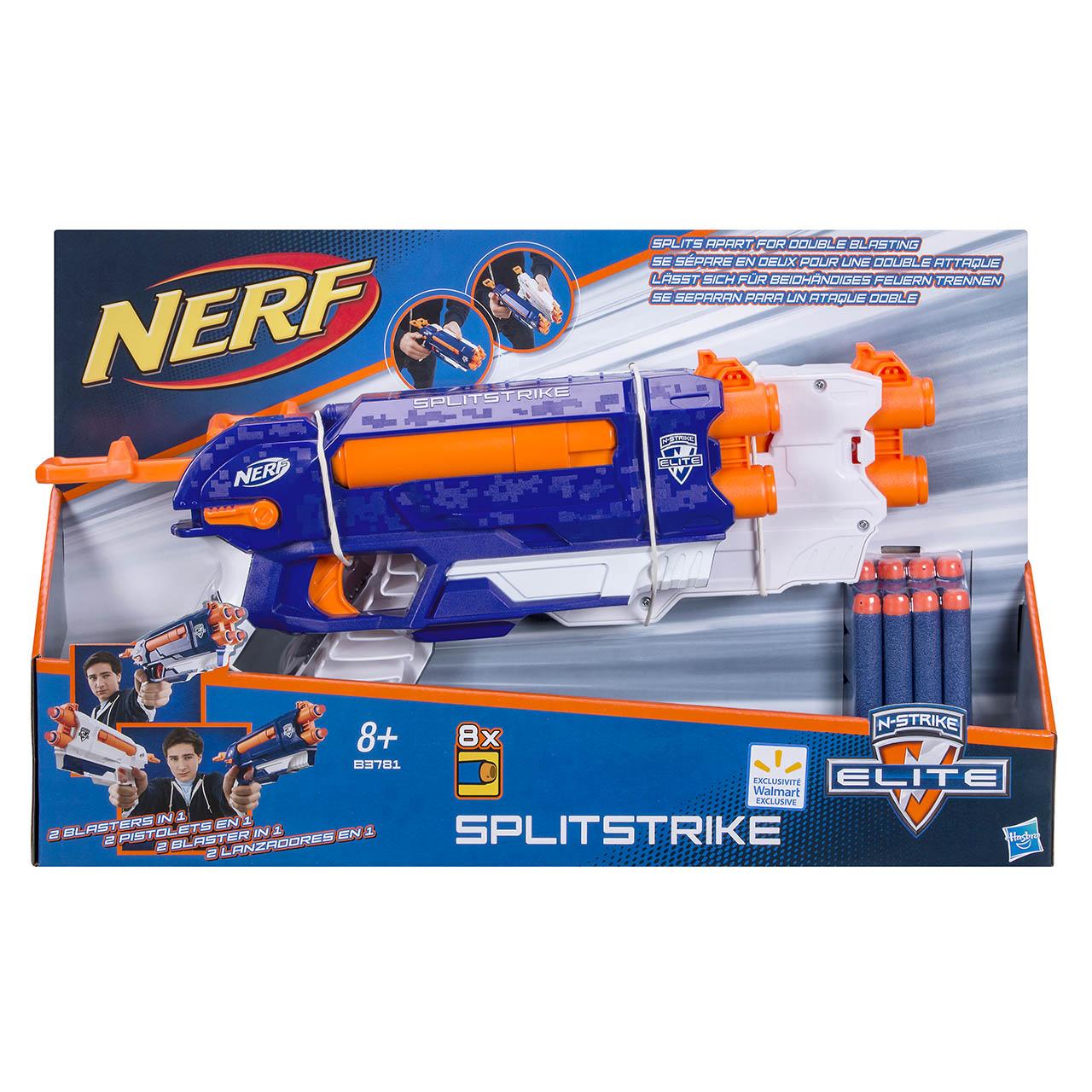 NERF strike alpha split strike blaster
