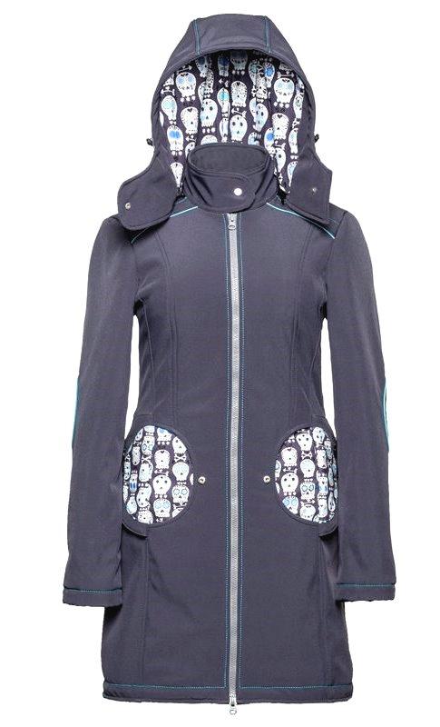 Liliputi kabát na nošení dětí Lebky šedý Velikost: 44