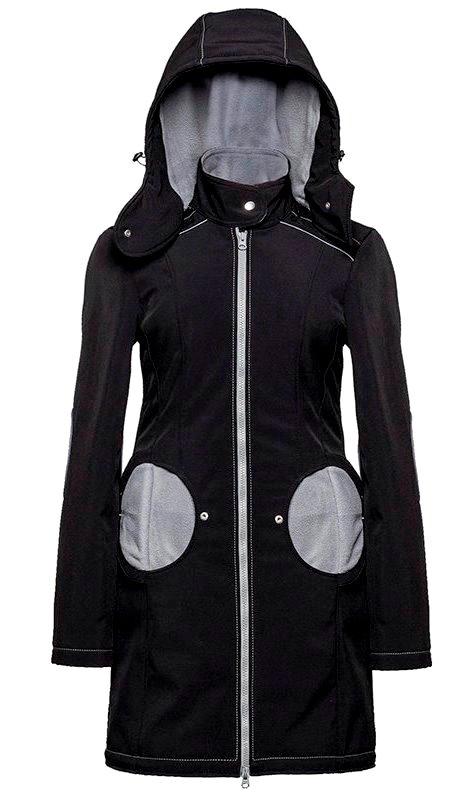 Liliputi kabát na nošení dětí černý Velikost: EUR 44 Doprava zdarma