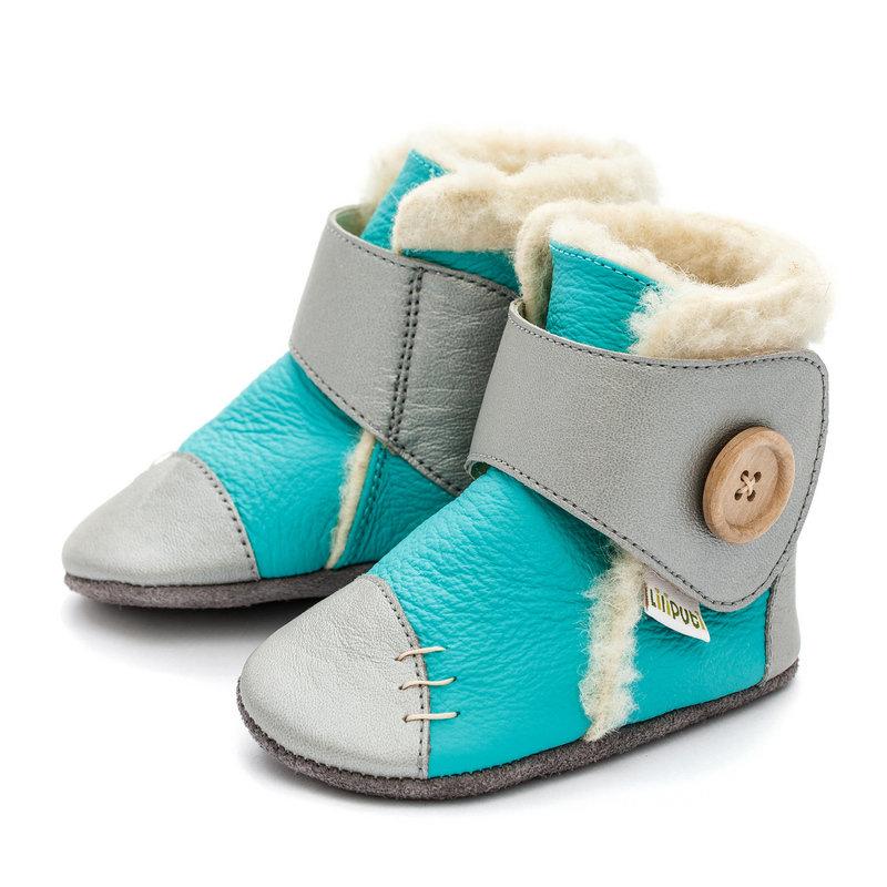 Liliputi zimní capáčky Snowflake modrostříbrné Velikost: EUR 17