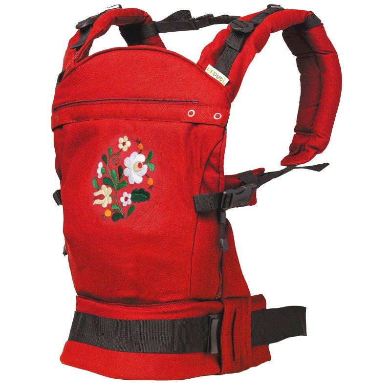Liliputi ergonomické nosítko Rouge Matyó červené