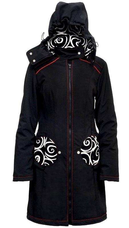 Liliputi kabát 4v1 na nošení dětí Elegance černý Velikost: EUR 44