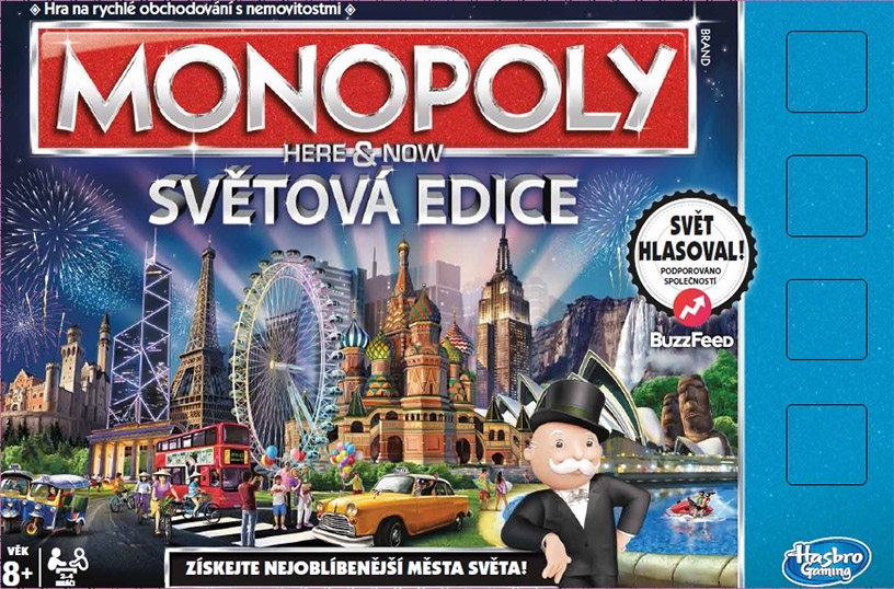 MONOPOLY HERE AND NOW SVĚTOVÁ EDICE CZ