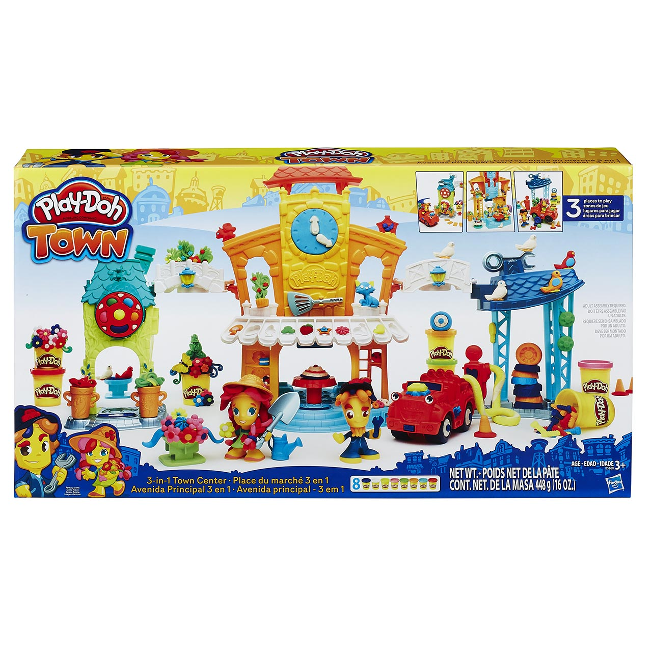 Hasbro Play Doh TOWN 3-IN-1 TOWN CENTER