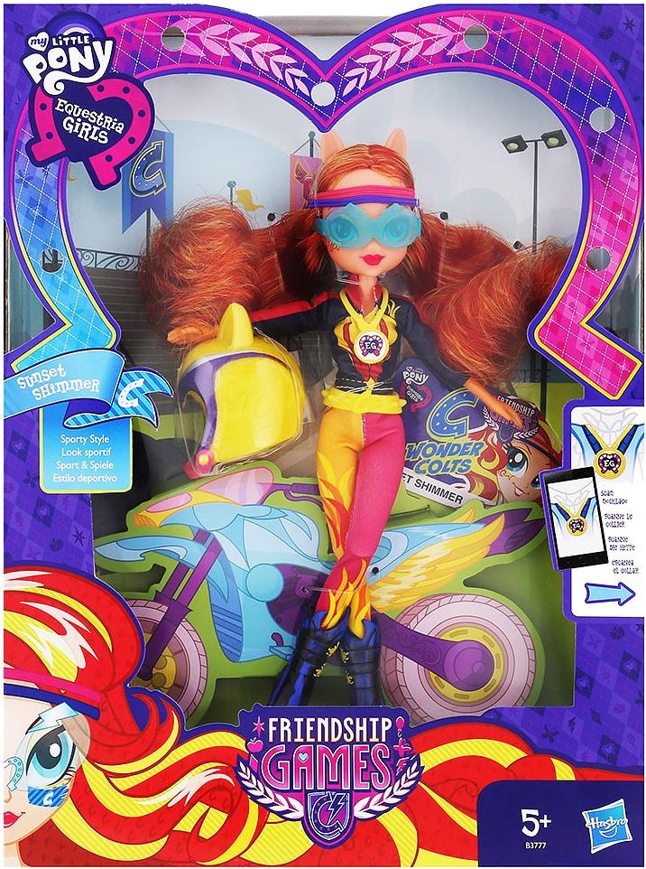 Hasbro My Little Pony EG Sportovní panenka Sunset Shimmer Akční cena