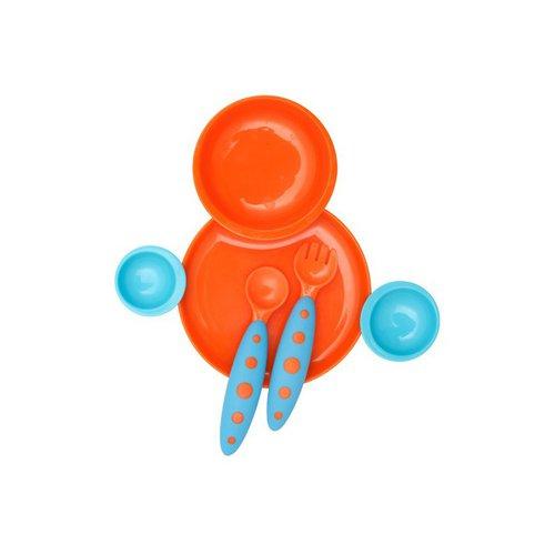 Boon Kompletní jídelní sada pro děti modro-oranž