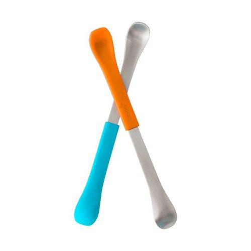 Boon Oboustranná lžička 2ks modro-oranžová