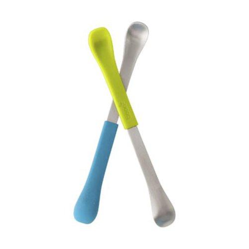 Boon Oboustranná lžička 2ks modro-zelená