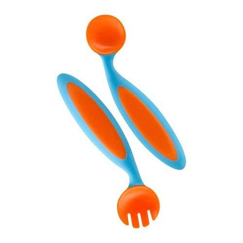 Boon Ohýbací dětský příbor - oranžová/modrá