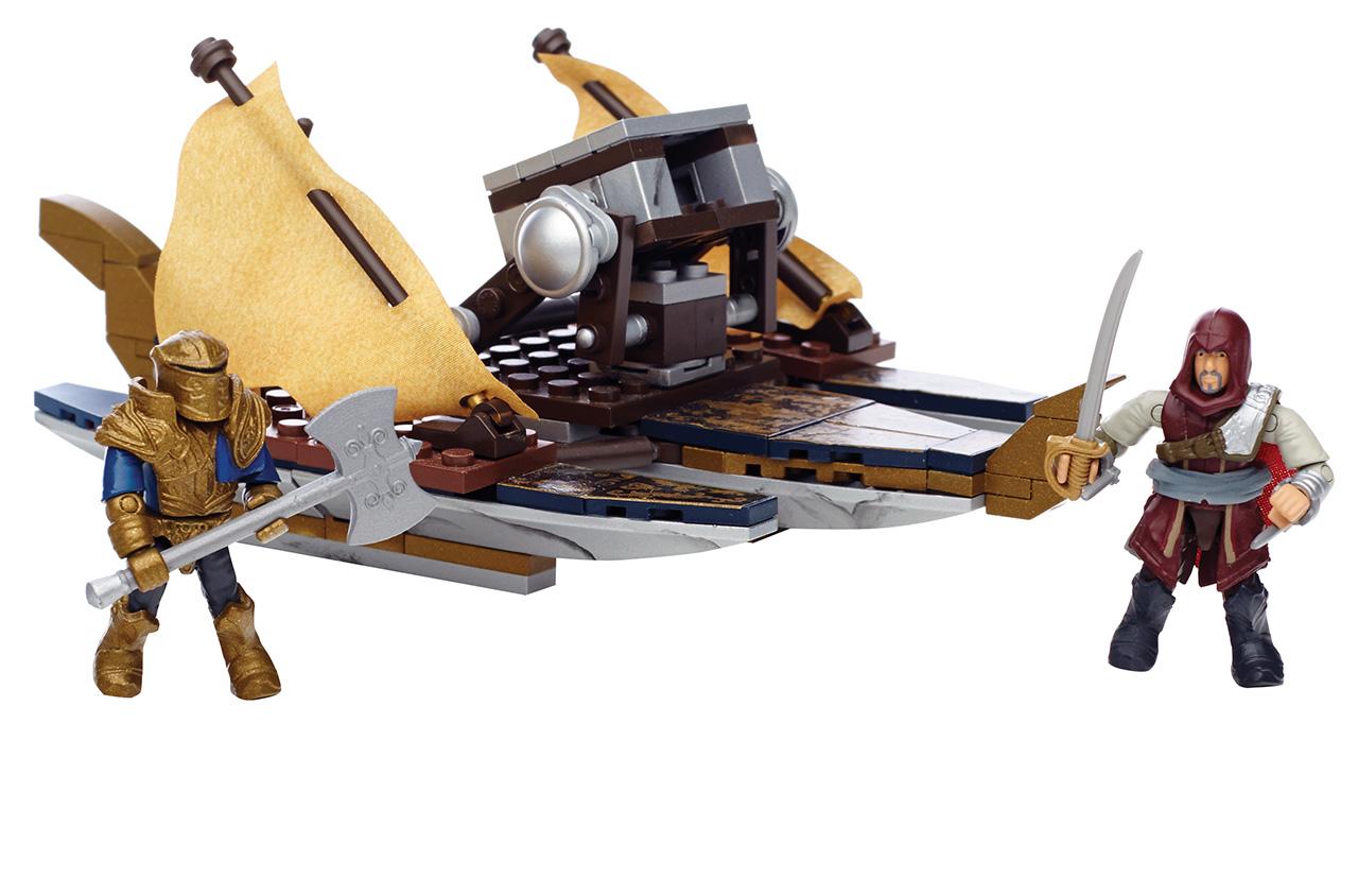 Mattel Mega Bloks Assassin's Creed VÁLEČNÁ LOĎ