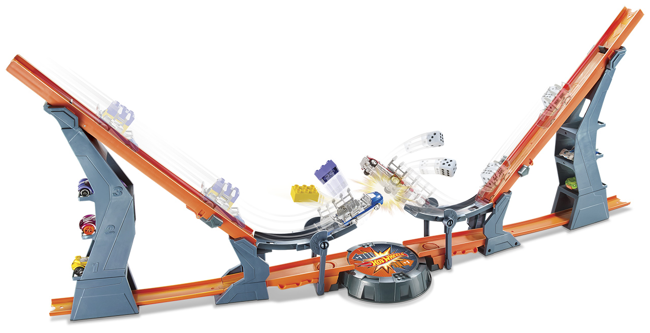 Mattel Hot Wheels DRÁHA TY PROTI SOUPEŘI