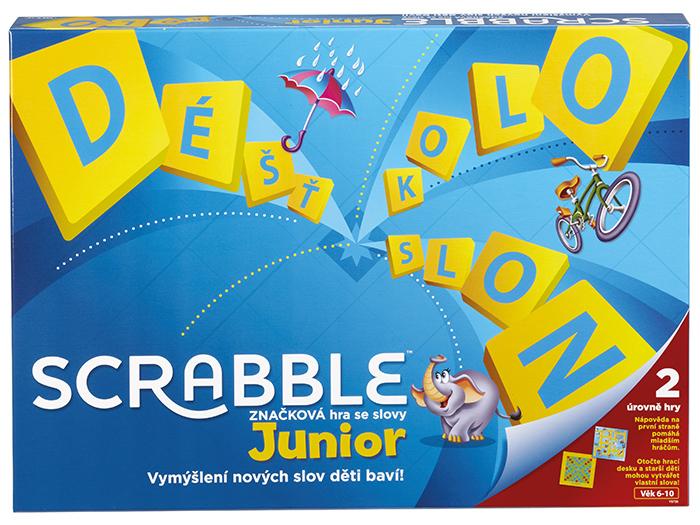 Mattel Junior scrabble CZ