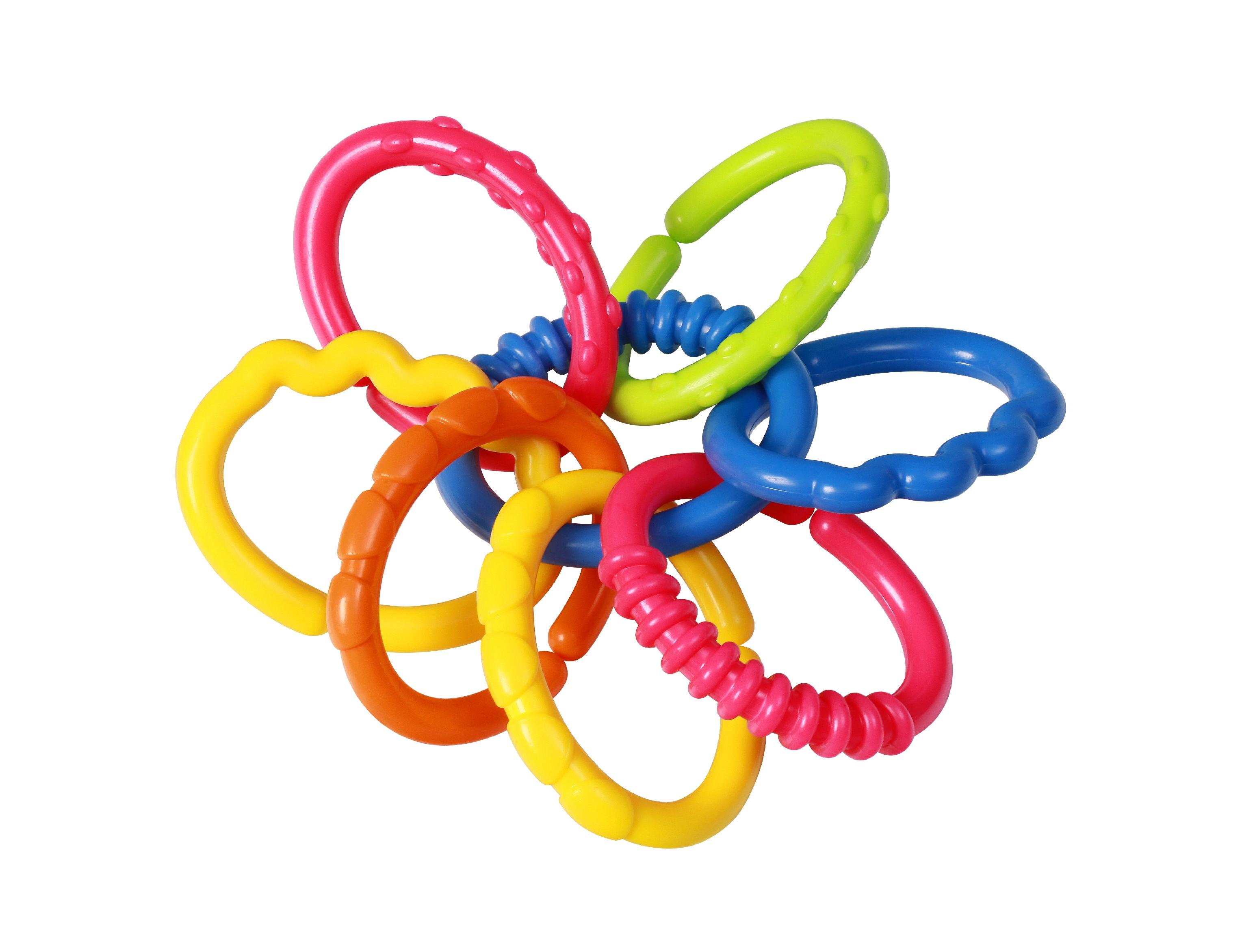 BabyOno Kousátko barevné kroužky 3m+