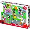 Puzzle 3x55 dílků Mickey a Minnie sportovci