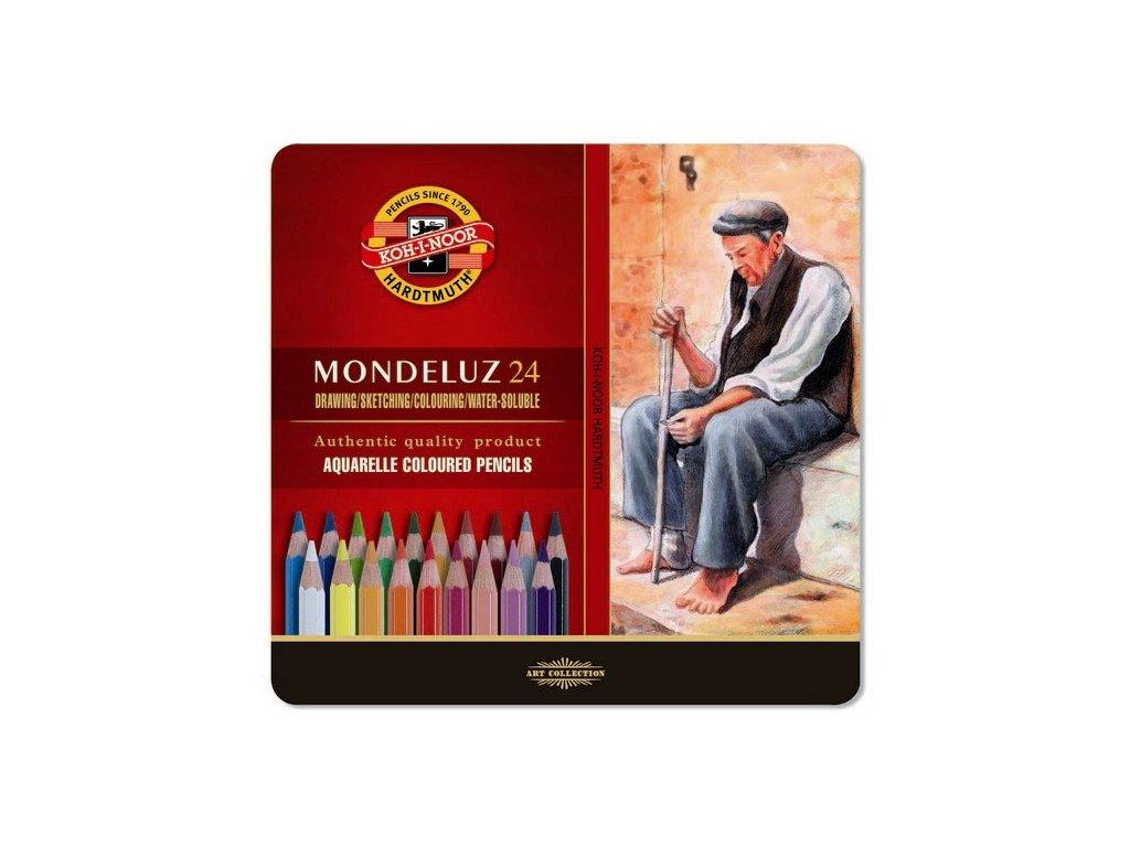 103710 koh i noor mondeluz umelecke akvarelove pastelove ceruzky 3724 24 ks v sade