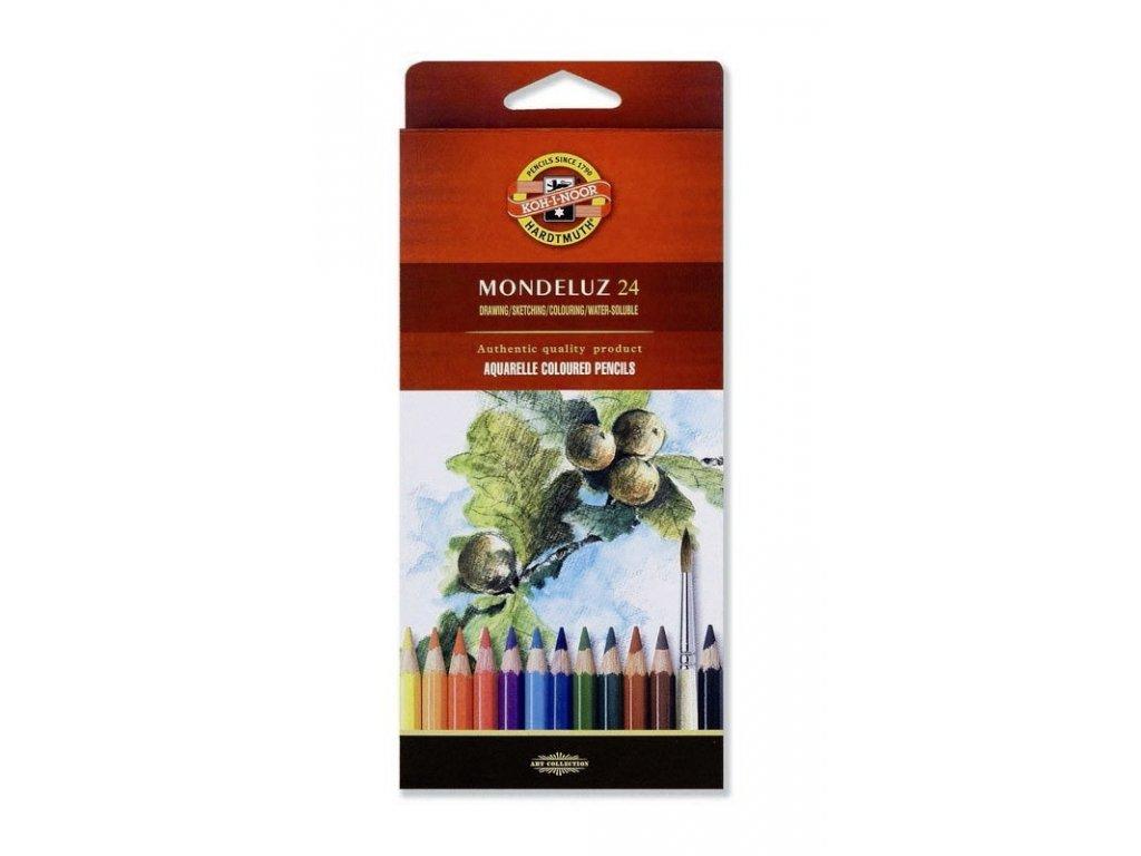 103731 koh i noor mondeluz umelecke akvarelove pastelove ceruzky 3718 24 ks v sade