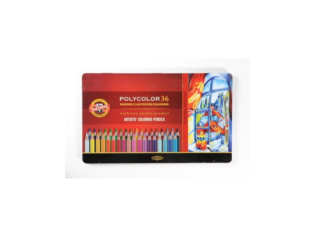103800 koh i noor pastelove ceruzky polycolor 3825 36 ks v sade plechovej puzdro