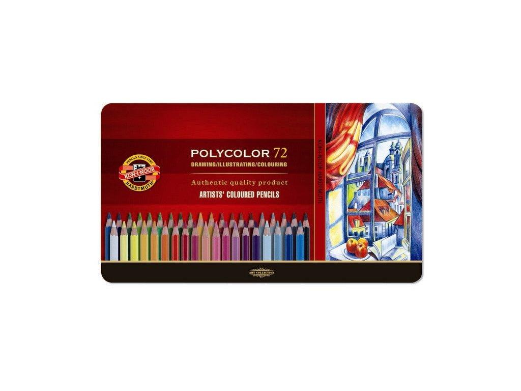 103806 koh i noor pastelove ceruzky polycolor 3827 72 ks v sade plechovej puzdro