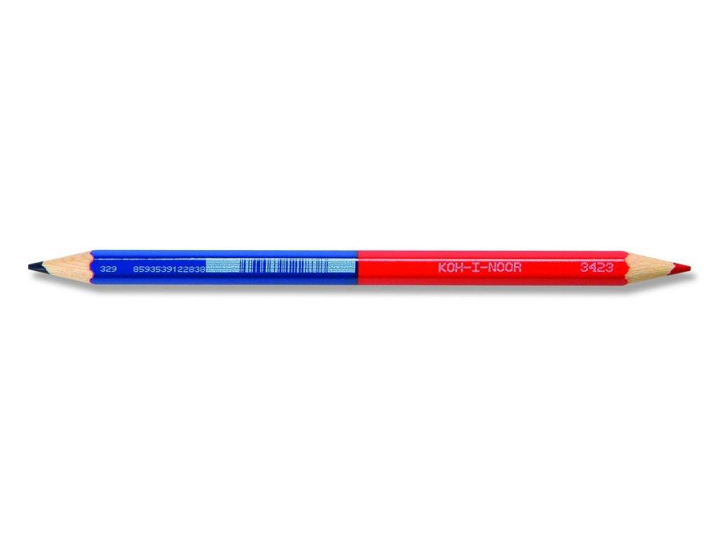 103851 koh i noor kancelarska pastelova ceruzka 3423 cerveno modra cena za 12 ks