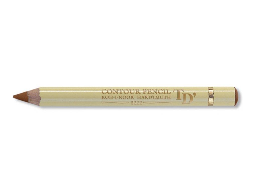 103860 koh i noor konturovacia ceruzka 3222 hneda cena za 12 ks