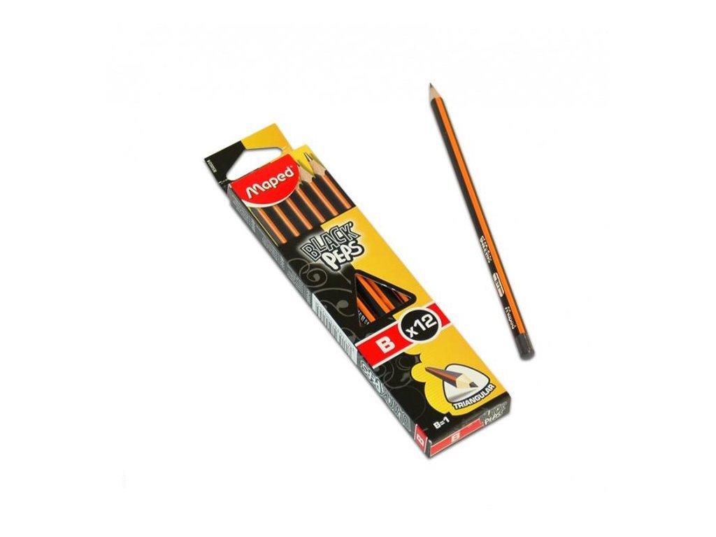 12 x Maped, školské ceruzka HB, Black Peps