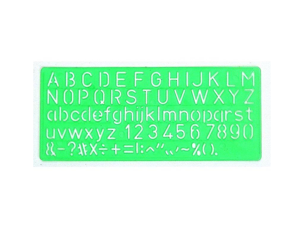 Linex, šablóna kolmé písmo, rôzne veľkosti