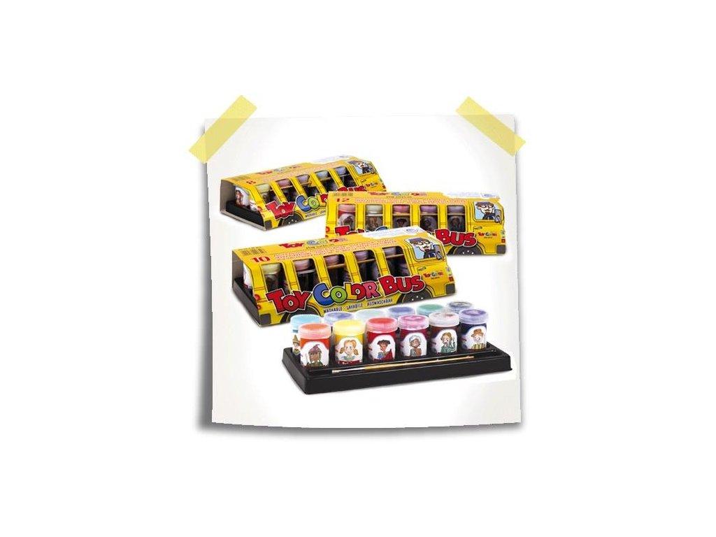 TOY COLOR, temperové farby, Bus darčekový set 12x25 ml.