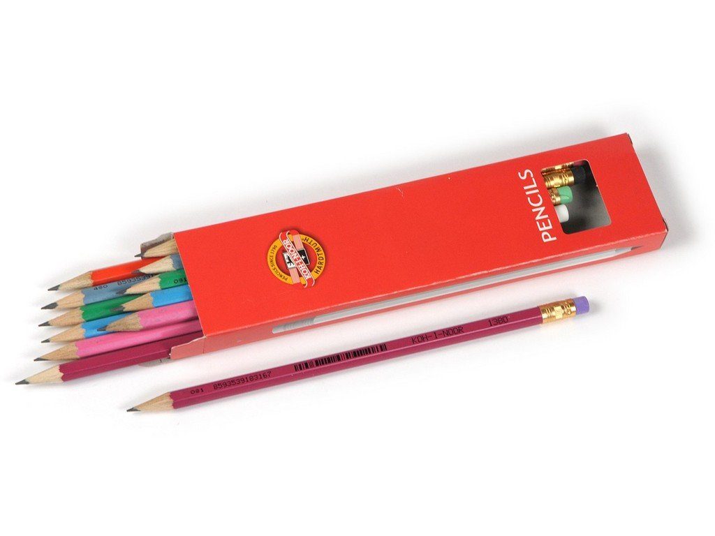 104568 koh i noor ceruzka s gumou 1380 tvrdost c 2 12 ks