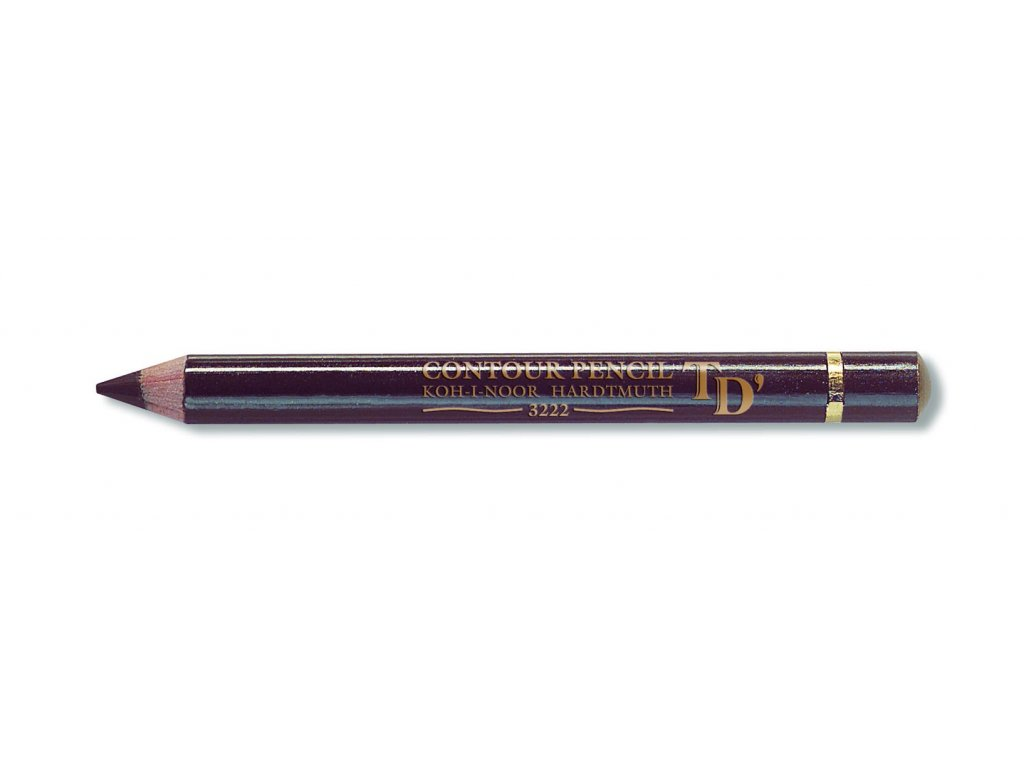 104604 koh i noor konturovacia ceruzka 3222 5ks hneda cena za 12 ks