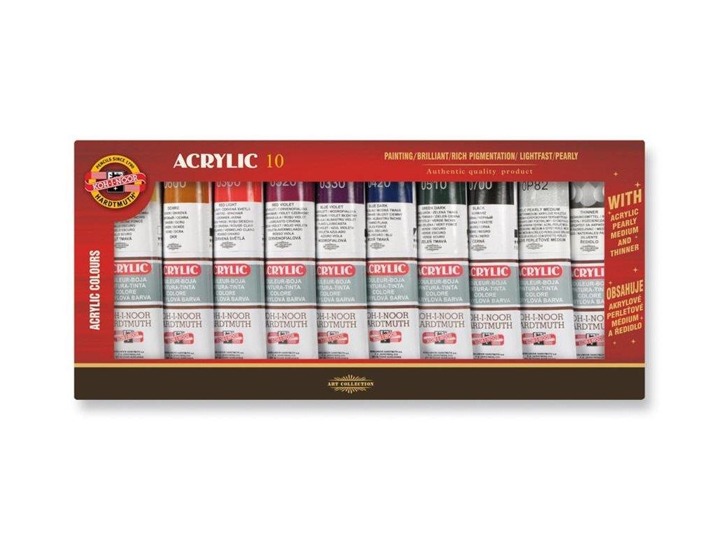 104685 koh i noor akrylova farba suprava 8x40 ml pripravky