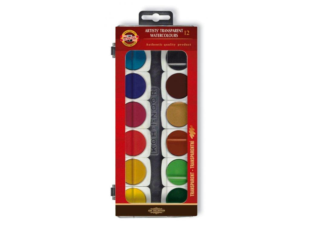 104688 koh i noor vodove farby umelecke transparentne 175505 12 farieb