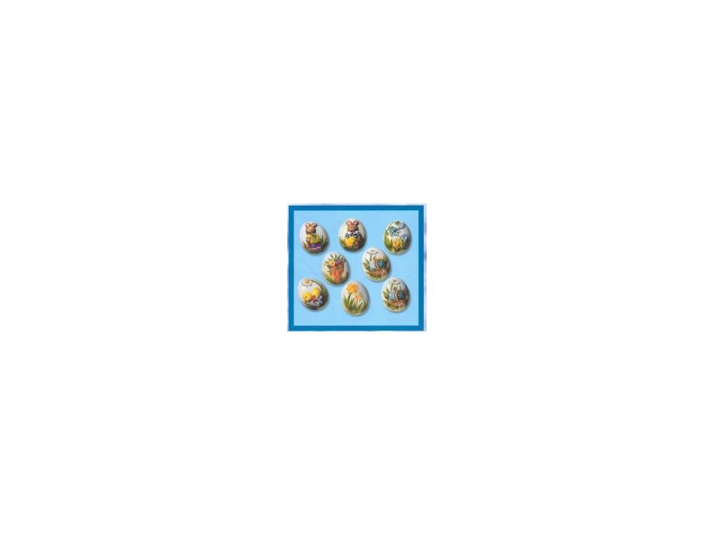 """veľkonočné forma na odliatky, vajcia """"85"""", 3D, 8 ks"""
