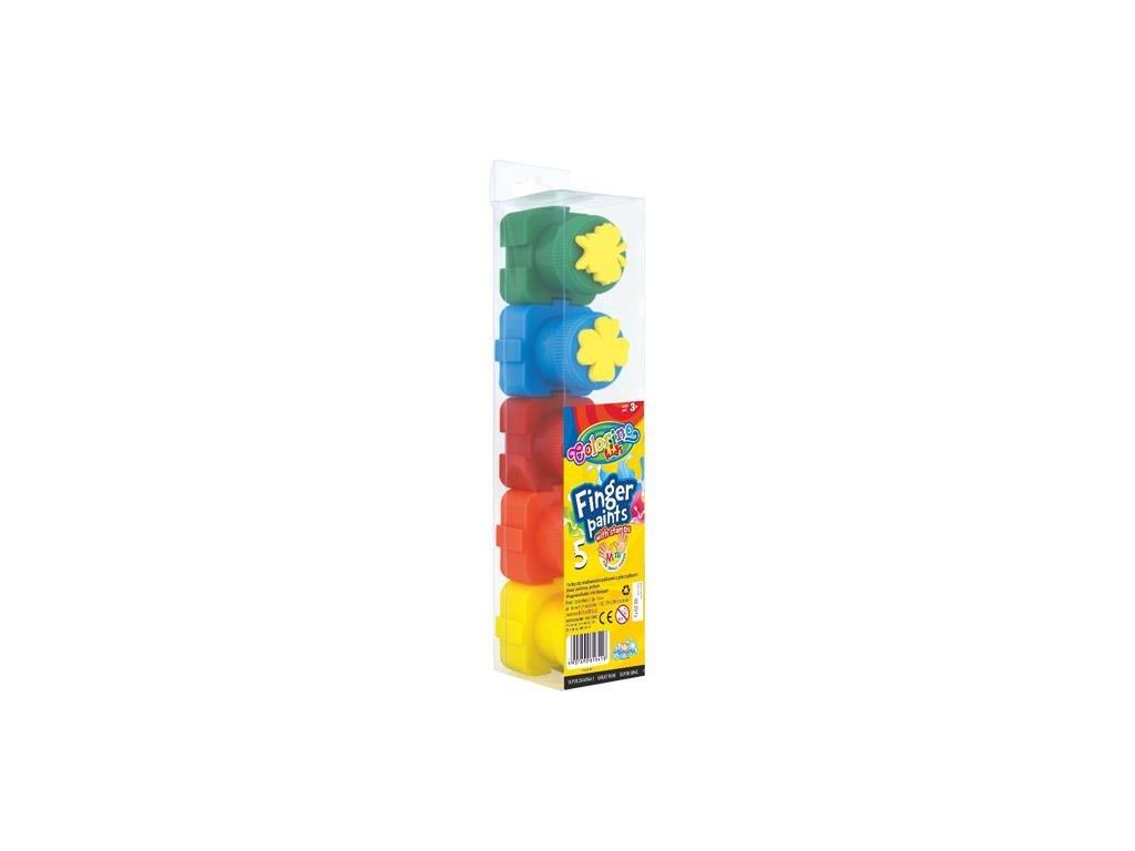 Colorino, prstové farby s pečiatkou, 5 farieb