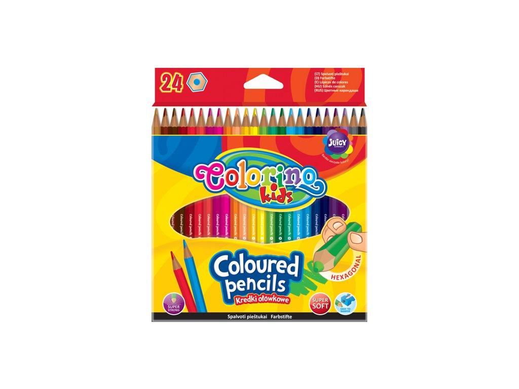 Colorino, šesťhranné farebné pastelky, 24 farieb
