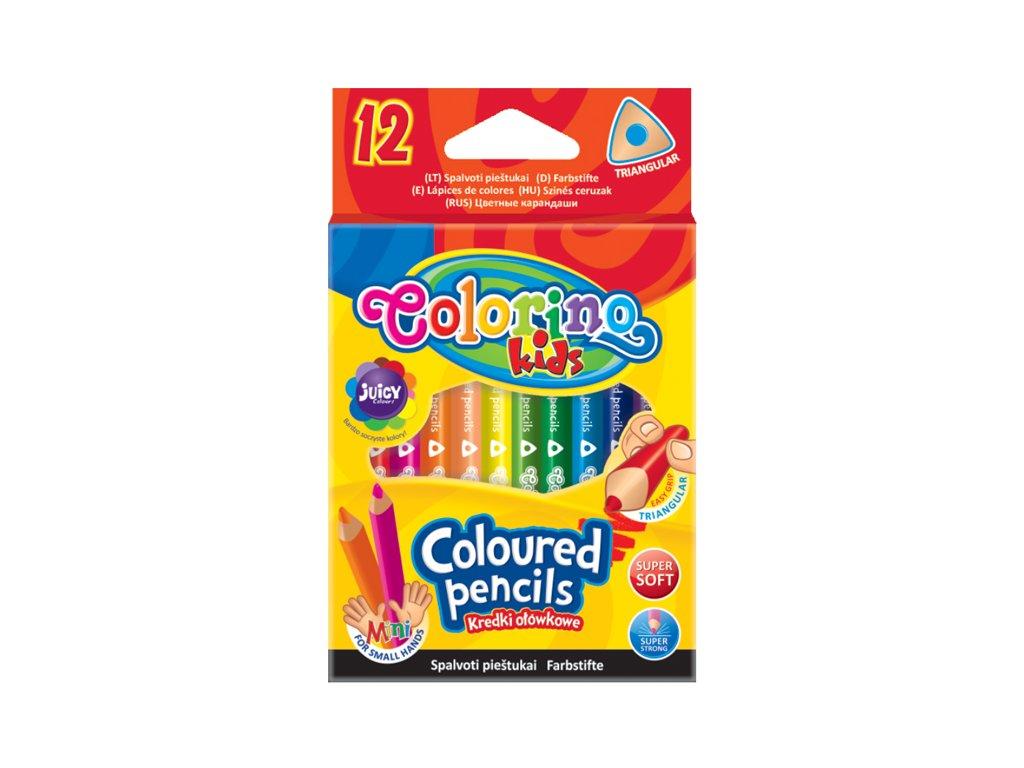 Colorino, trojhranné krátke pastelky, 12 farieb