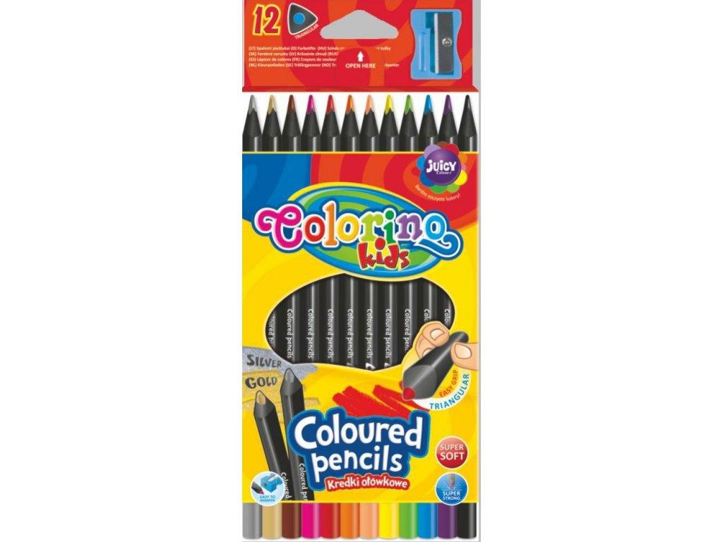 Colorino, trojhranné pastelky, 12 farieb