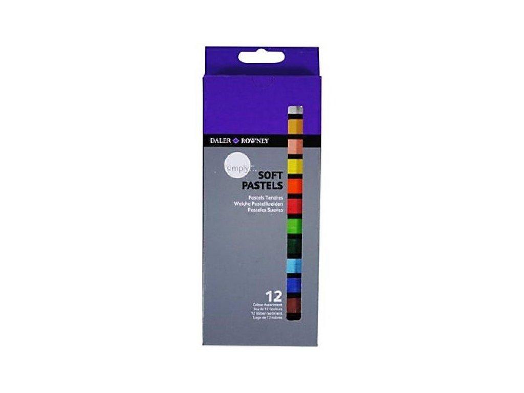 Daler-Rowney, sada mäkkých pastelov SIMPLY 12 ks