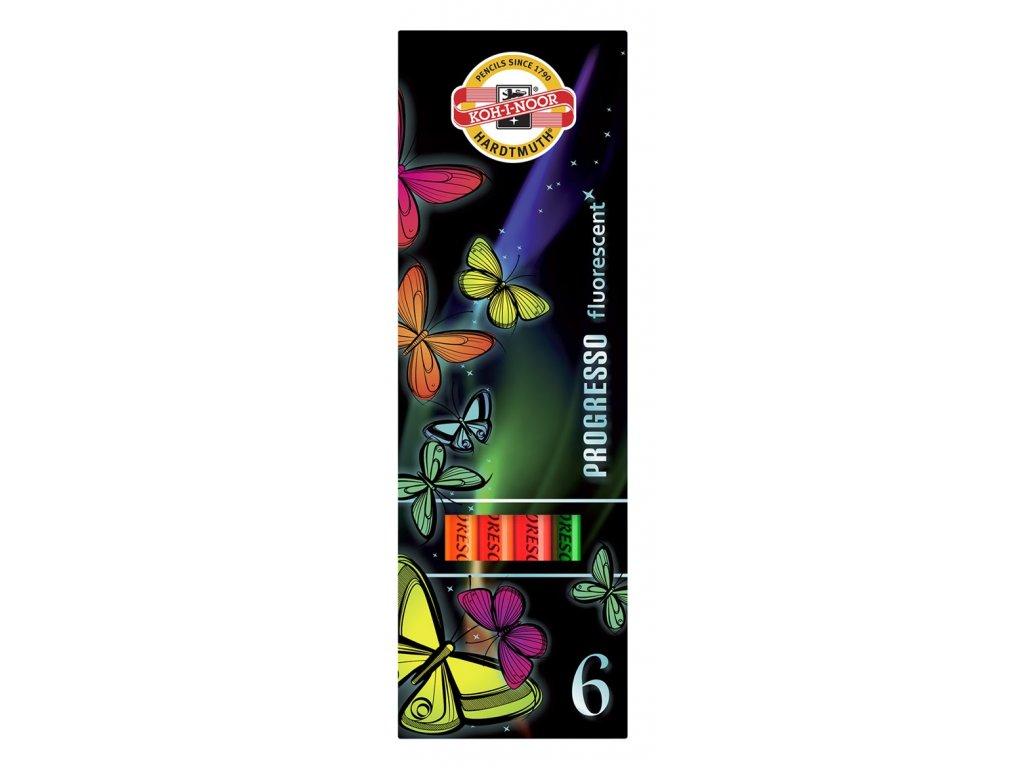 105534 koh i noor suprava ceruziek pastelovych progresso fluorescent 6 ks