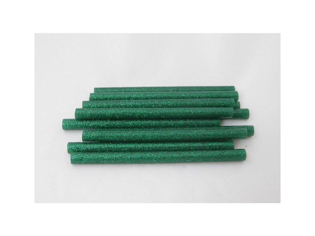 zelené s glitrami tavnej tyčinky 7,5 mmx10 cm