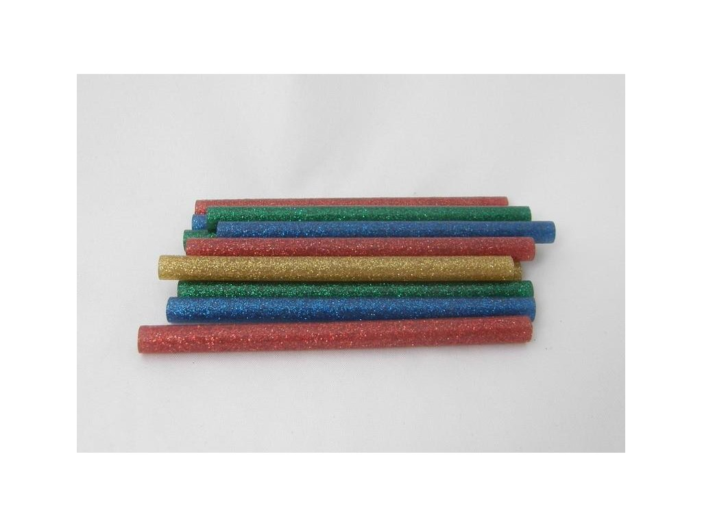mix farebných lepiacich tyčiniek s glitrami 7,5 mmx10 cm