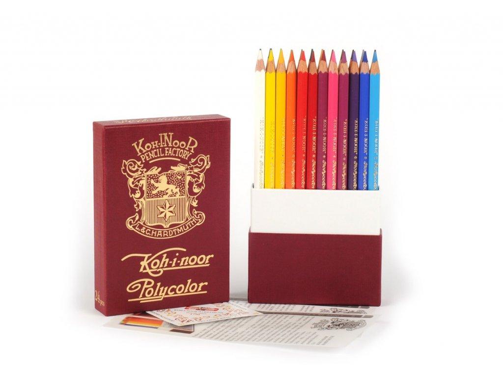 105681 koh i noor polycolor umelecke pastelove ceruzky 3824 24 retro