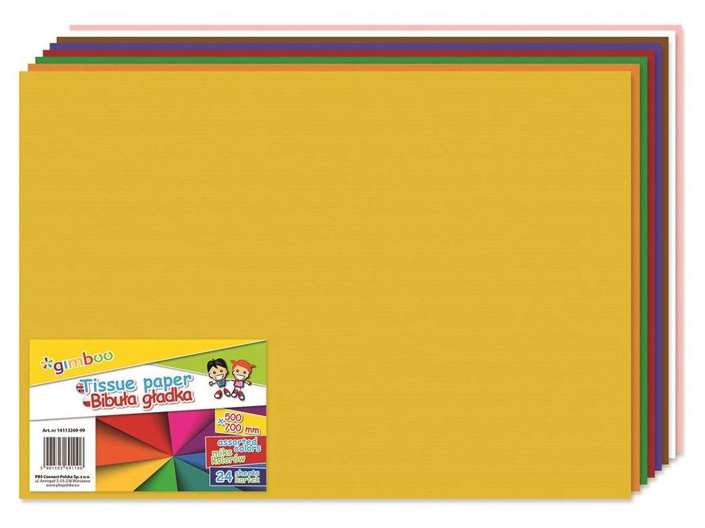 hodvábny papier, farebný mix, 50x70 cm