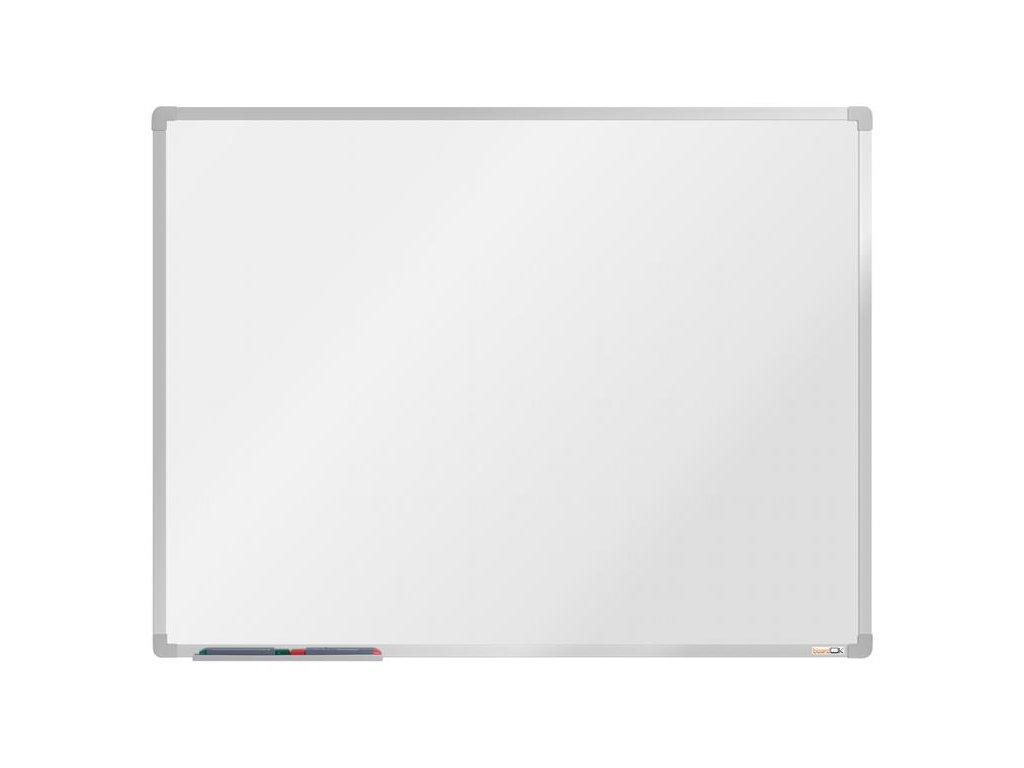 BoardOK, biela magnetická tabuľa s keramickým povrchom, 120x90 cm, strieborný rám
