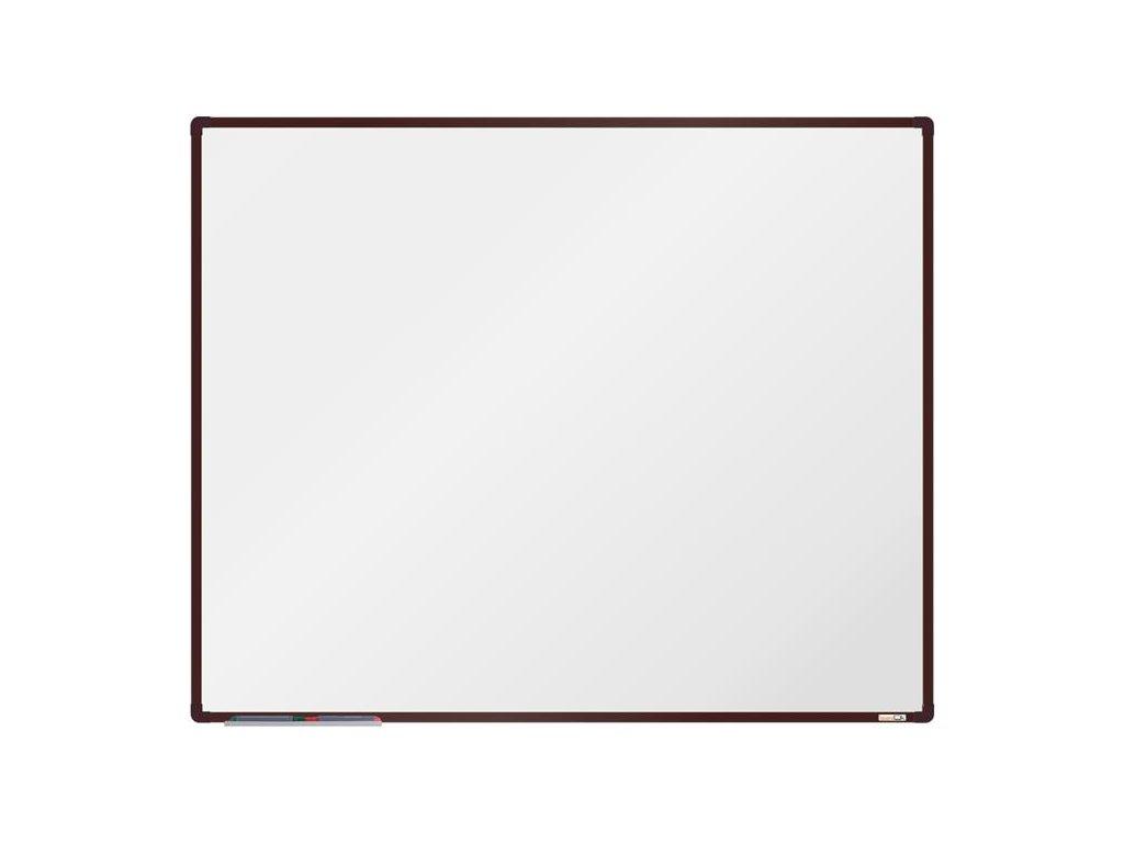 BoardOK, biela magnetická tabuľa 150x120 cm, hnedý rám