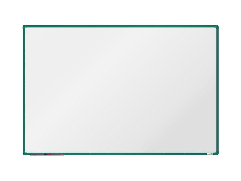 BoardOK, biela magnetická tabuľa 180x120 cm, zelený rám